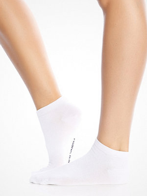 Frank Dandy Bamboo Low Sock Solid White