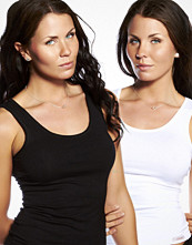 Linnen - Doreanse 2-pack Daily Passion Tanktop Black & White