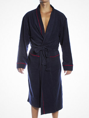 Morgonrockar - Jockey Bath Robe Navy Big