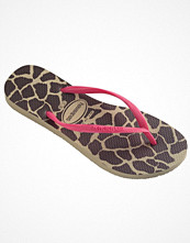 Tofflor - Havaianas Slim Animal Pink/Beige