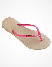 Havaianas Slim Logo Metallic Pink/Beige