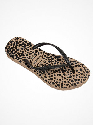 Tofflor - Havaianas Slim Animal Black pattern-2