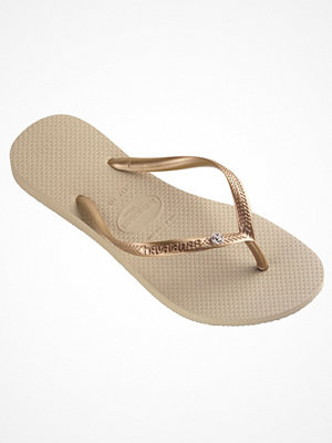 Tofflor - Havaianas Slim Crystal Glamour SW Sand Grey Grey