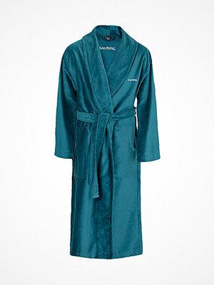 Morgonrockar - Salming Hjalmer Mens Long Morninggown  Bluegreen