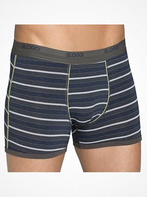 Sloggi Men Parkour Short Green Striped