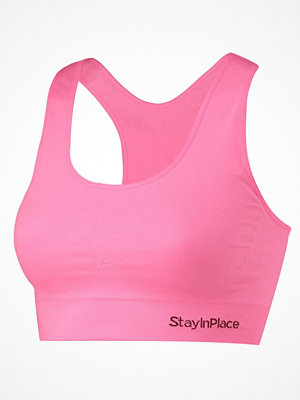 Stay In Place Rib Seamless Bra Lightpink