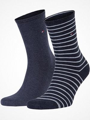 Strumpor - Tommy Hilfiger 2-pack Classic Small Stripe Socks  Blue Striped