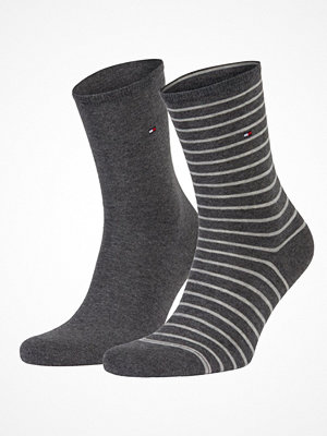 Strumpor - Tommy Hilfiger 2-pack Classic Small Stripe Socks  Greystriped