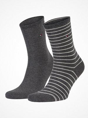 Strumpor - Tommy Hilfiger 2-pack Classic Small Stripe Socks  Greystriped