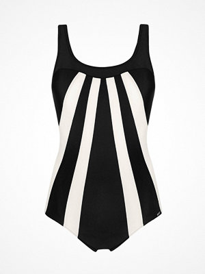 Abecita Serpentine Swimsuit  Black/White
