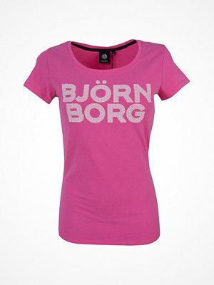 Björn Borg Sport Tamira SS Tee Raspberry red
