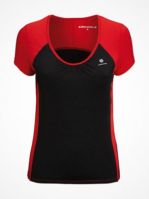 Björn Borg Wake S-S Tee Chinese Red Black/Red