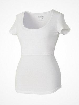 Boob Nursing Short Sleeve  White