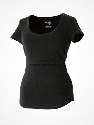 Boob Nursing Short Sleeve  Black