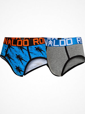 CR7 Cristiano Ronaldo 2-pack Boys Line Briefs Grey/Blue