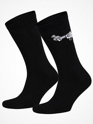 Frank Dandy Non-Violence Knotted Gun Socks Black