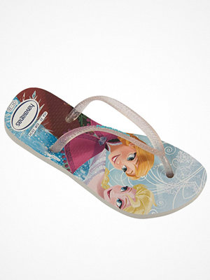 Tofflor - Havaianas Kids Slim Princess White Pattern-2