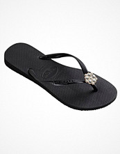 Tofflor - Havaianas Slim Crystal Poem Darkgrey