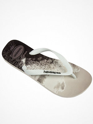 Tofflor - Havaianas Hype White Pattern-2