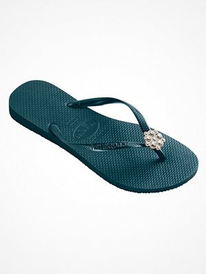 Havaianas Slim Crystal Poem Darkgreen