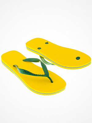 Tofflor - Havaianas Brasil Logo Yellow
