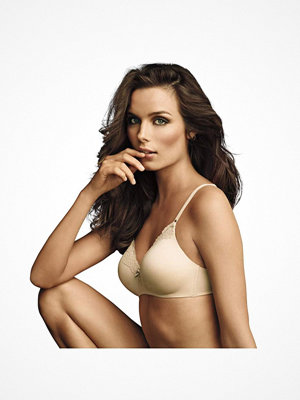 Maidenform Comfort Devotion Wirefree Bra with Lace Beige
