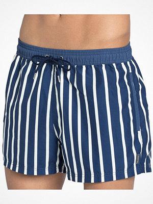 Sloggi Swim Navy Skipper Boxer 02  Blue Striped