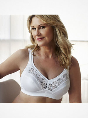 Swegmark Cotton Star Soft Bra White White