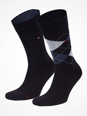 Tommy Hilfiger 2-pack Men Sock Check Navy-2