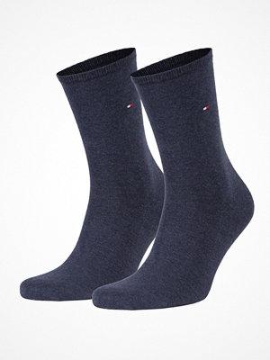 Strumpor - Tommy Hilfiger 2-pack Women Classic Casual Socks  Blue