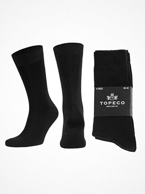 Topeco 4-pack Mens Socks Plain  Black