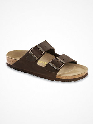 Tofflor - Birkenstock Arizona Läder Darkbrown