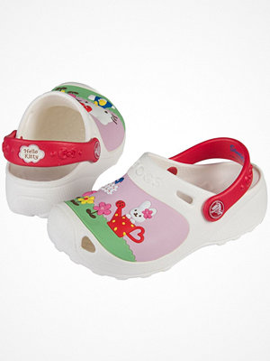 Tofflor - Crocs Hello Kitty Custom Kids White Pattern-2
