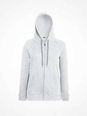 Fruit of the Loom Lady-Fit Hooded Sweat Jacket Greymarl