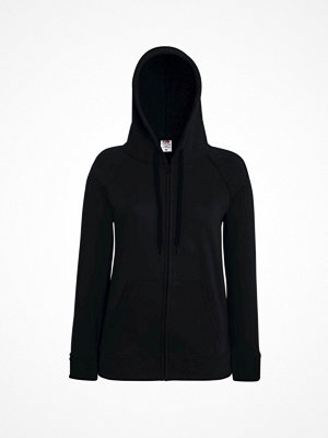 Fruit of the Loom Lady-Fit Hooded Sweat Jacket Black