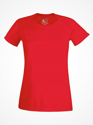 Fruit of the Loom Lady-Fit Performance T Red