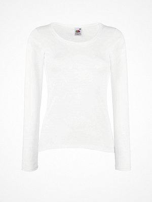 Pyjamas & myskläder - Fruit of the Loom Lady Fit Valueweight Long Sleeve White