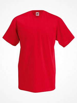 Fruit of the Loom Valueweight V-neck T Red