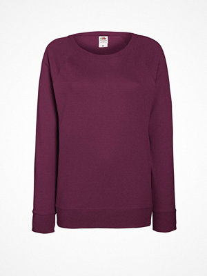 Fruit of the Loom Lady-Fit Light Raglan Sweat Wine red