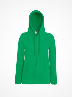 Fruit of the Loom Lady-Fit Hooded Sweat Jacket Green