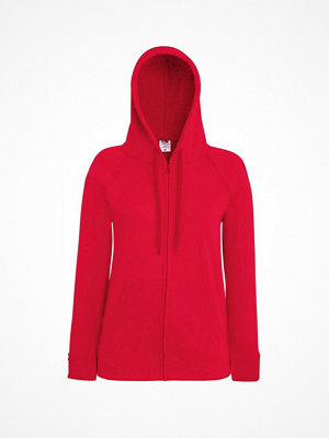 Fruit of the Loom Lady-Fit Hooded Sweat Jacket Red