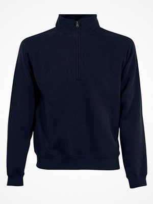Fruit of the Loom Zip Neck Sweat Darkblue