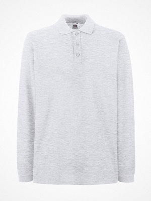 T-shirts - Fruit of the Loom Premium Long Sleeve Polo Light grey