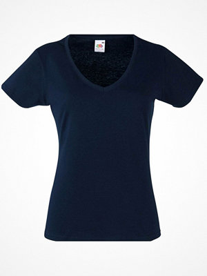 Fruit of the Loom Lady Fit Valueweight V-neck T Darkblue