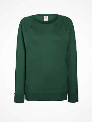 Fruit of the Loom Lady-Fit Light Raglan Sweat Darkgreen