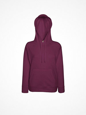 Fruit of the Loom Lady-Fit Light Hooded Sweat Wine red