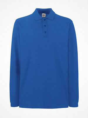 T-shirts - Fruit of the Loom Premium Long Sleeve Polo Royalblue
