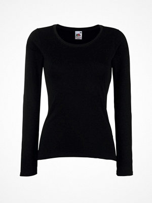 Fruit of the Loom Lady Fit Valueweight Long Sleeve Black