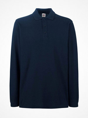 T-shirts - Fruit of the Loom Premium Long Sleeve Polo Darkblue