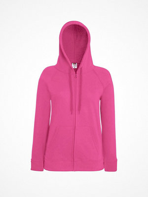 Fruit of the Loom Lady-Fit Hooded Sweat Jacket Pink